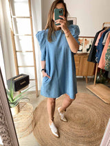 Robe LOELA SELECTION Robe Kelly LIGHT BLEU / S