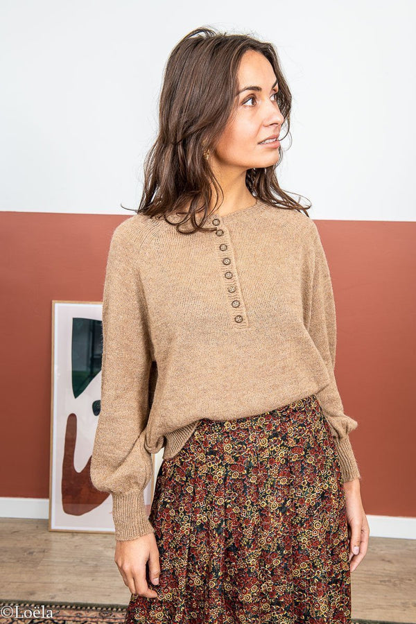 PULL ANGE Pull Leclarence CAMEL / TU