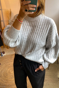 PULL GRACE&MILA Pull Bambou GRIS_CLAIR / S