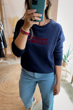 SWEAT SHIRT GRACE&MILA Sweat shirt Bastien MARINE / S