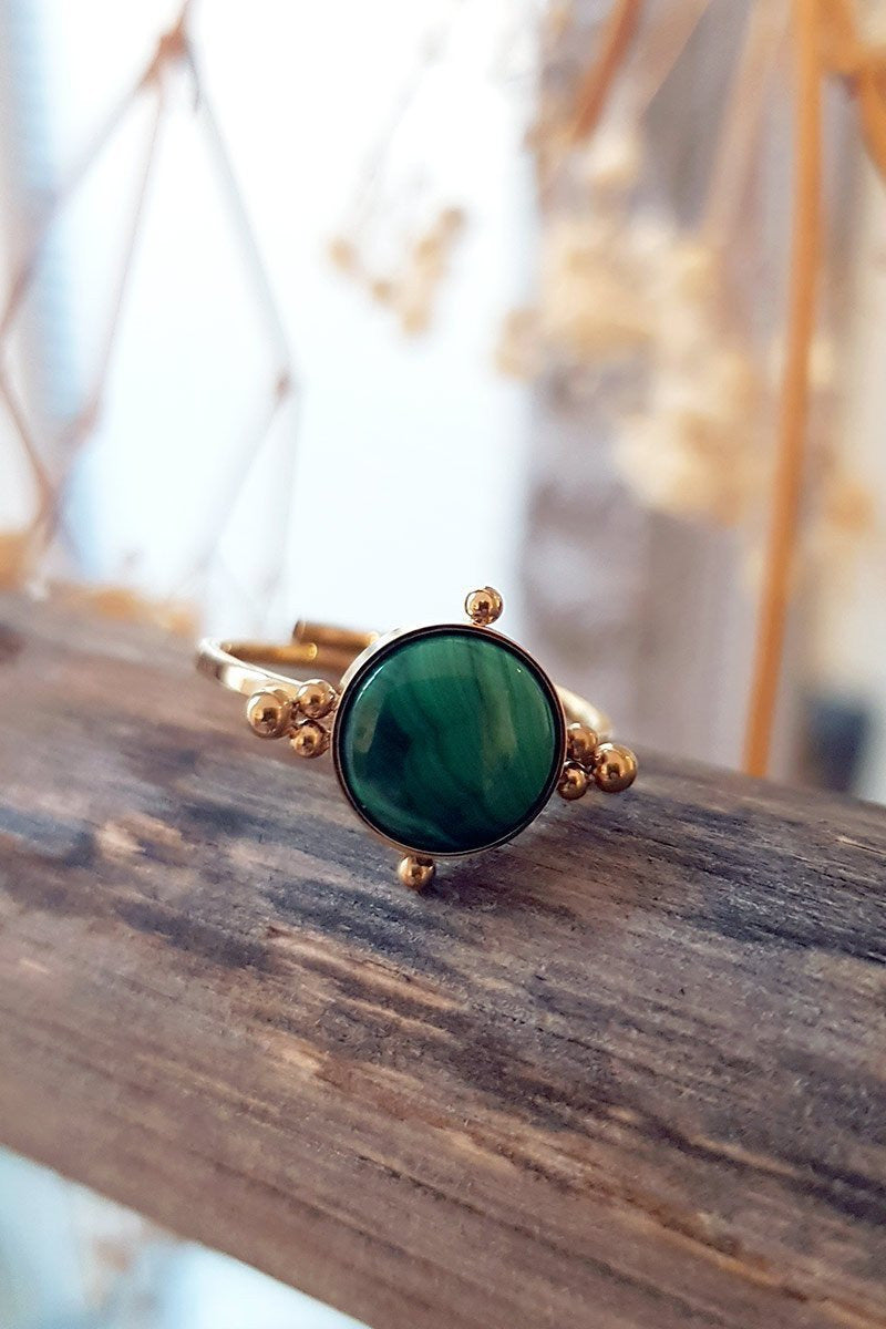 Bague ZAG Bague Asria MALACHITE / U