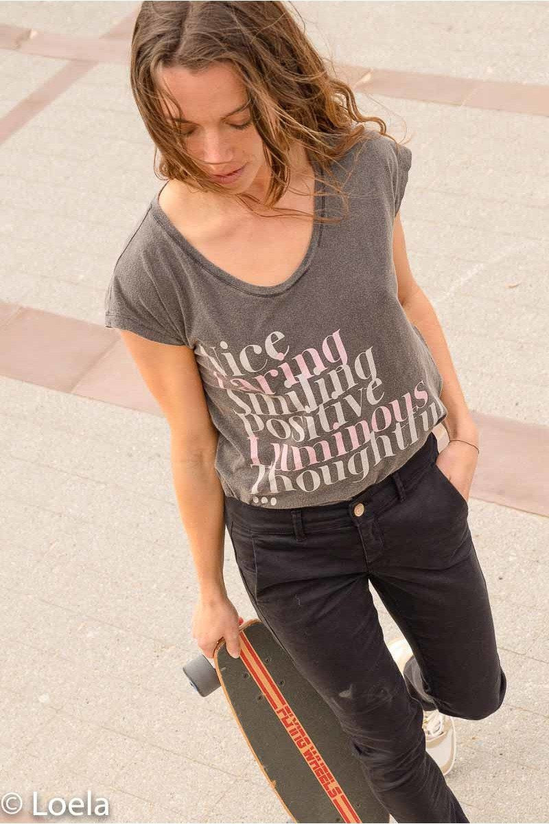 Top ONE TEE T-shirt Elena CARBONE / XS