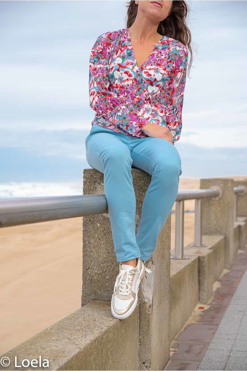 Pantalon HAPPY Pantalon Joy AZUR / 23