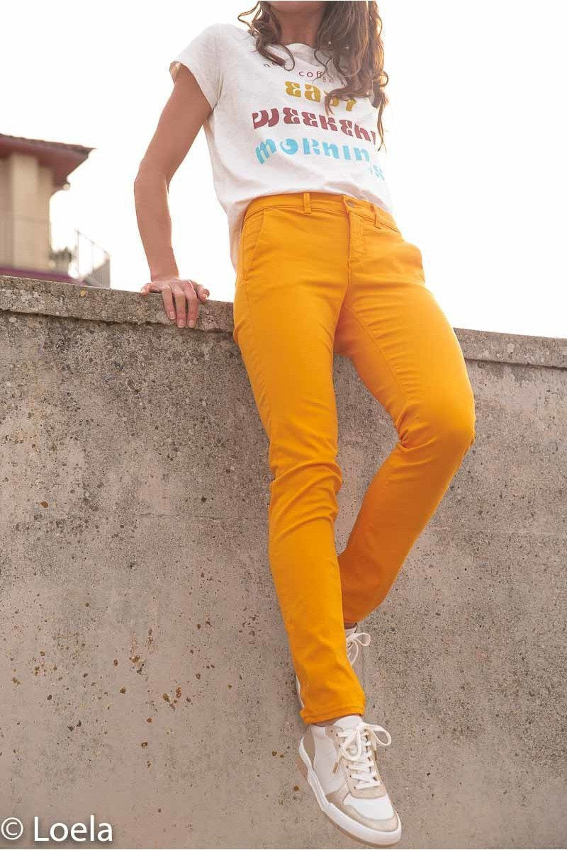 Pantalon HAPPY Pantalon Joy TANGERINE / 23