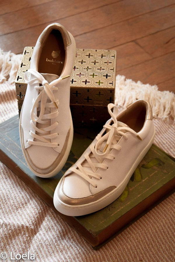 Chaussures BOBBIES La Venice BLANC OR / 36
