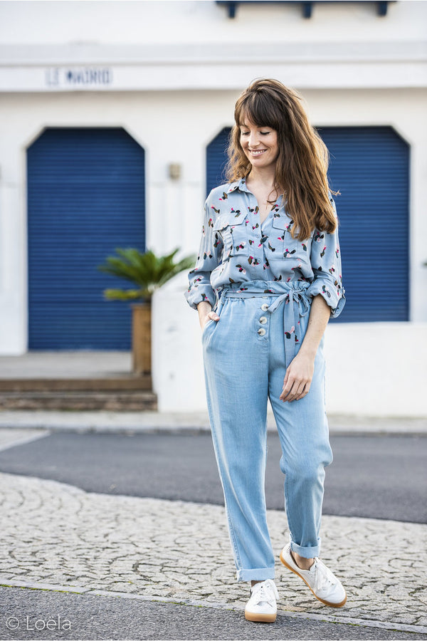Pantalon Ada Vêtements ORFEO CHAMBRAY 36