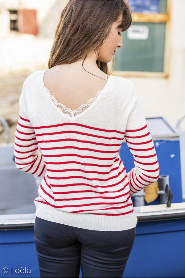 Pull Jean Vêtements YCOO ROUGE SM