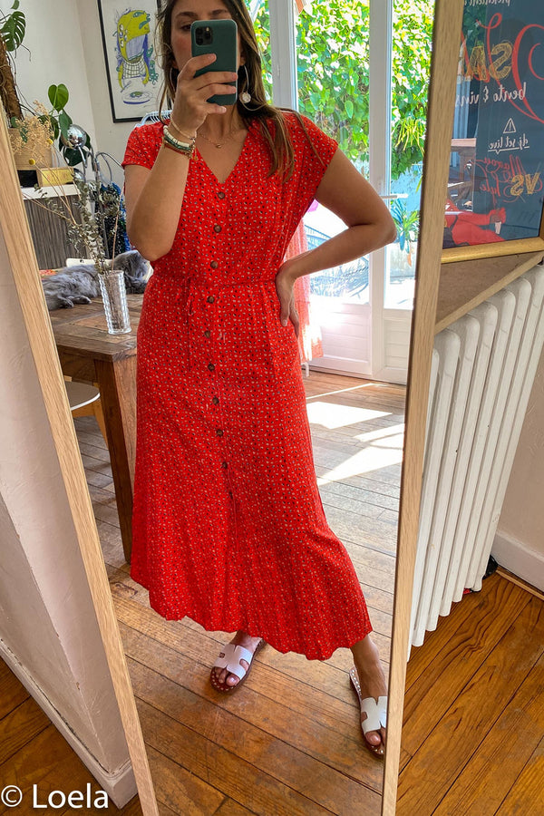 Robe GRACE&MILA Robe Auteure ROUGE / S