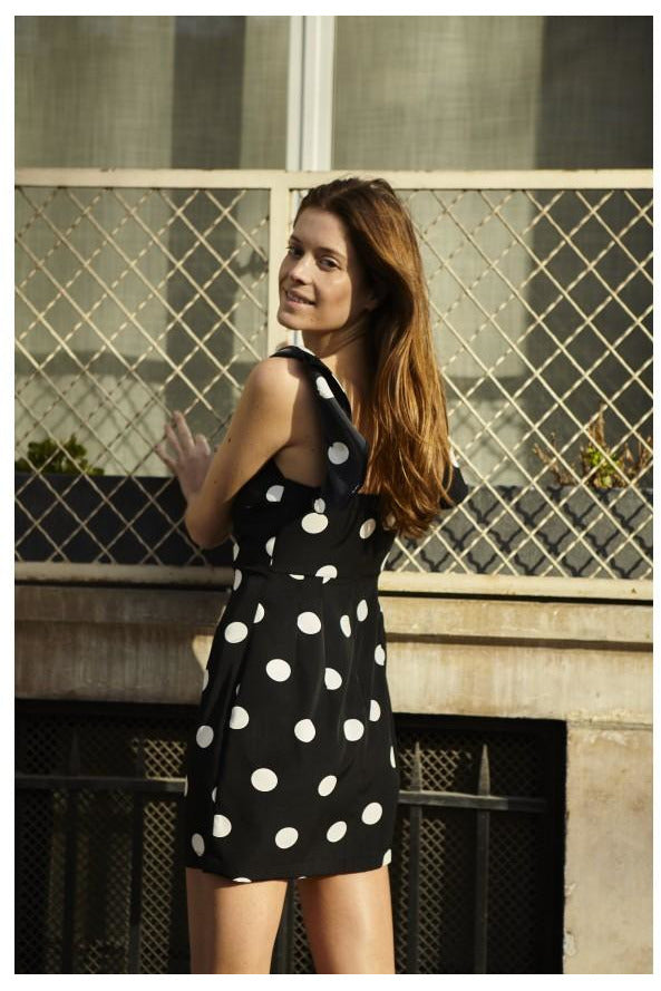 Robe Monica Robe JANE WOOD NOIR POIS 1