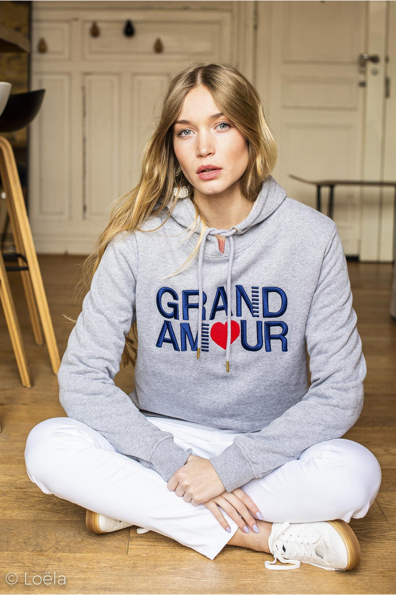 Sweat Grand Am❤️ur Vêtements OPULLENCE GRIS S