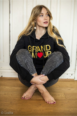 Sweat Grand Am❤️ur Vêtements OPULLENCE NOIR S
