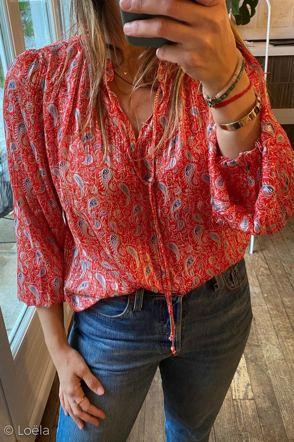 CHEMISE YCOO Top Flower CORAIL3 / XS