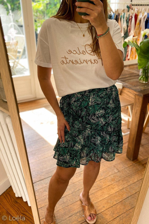 TOP OPULLENCE Tshirt Dolce BLANC / S