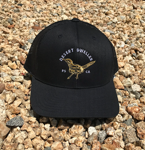 Desert Dweller Road Runner Black Trucker Cap