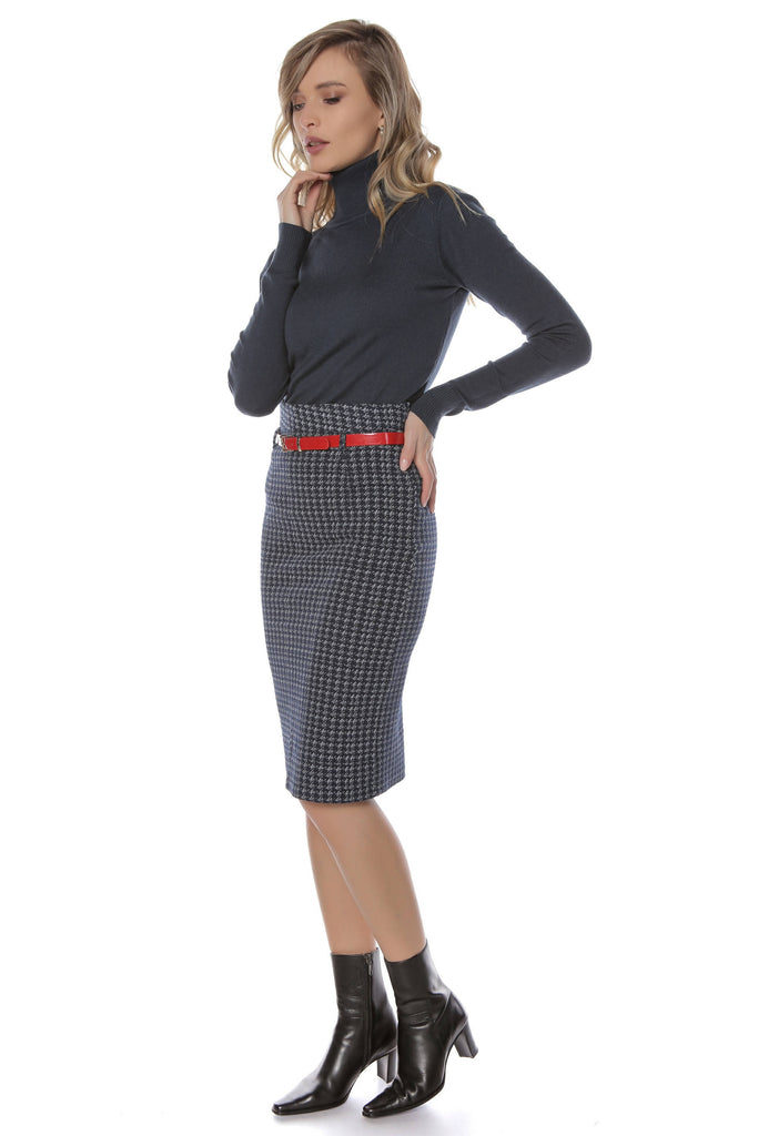 Navy pencil skirt, Aimelia - FR419