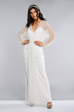 Nell Maxi Long Sleeved Wedding Dress - Plus Size