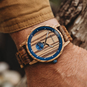 Wooden Watch | Sycamore | Woodlink Strap | Botanica Watches