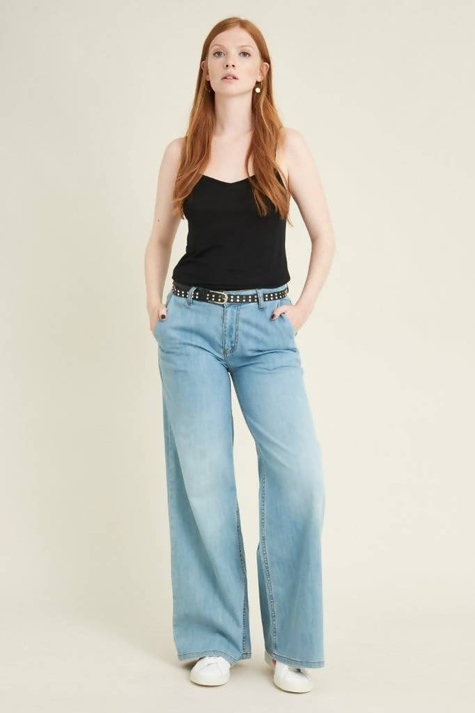 Kenting organic cotton wide leg jeans