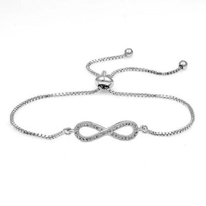 Infinity Adjustable Pulley Bracelet - silver and gold