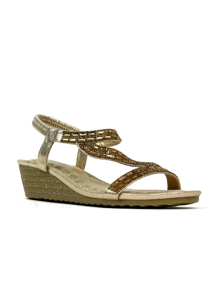 LSA-8026 3788-19 LOW WEDGE HEEL SANDAL