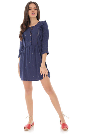 Navy viscose dress, Aimelia - DR4101