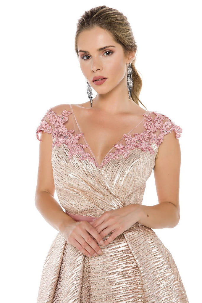 Shoulder Embroidered Dress