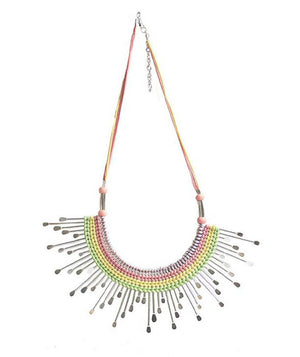 Multicolour Spiked Necklace
