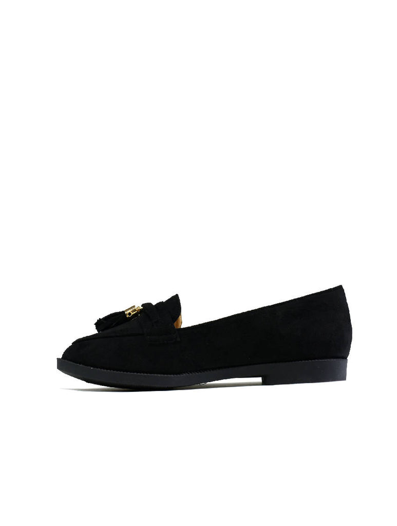 LSH-8166 6303-4 SLIP ON SHOES - Black Suede - Pack of 12 - Size 3 to 8
