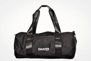 Swaver Satin Black Barrel Bag