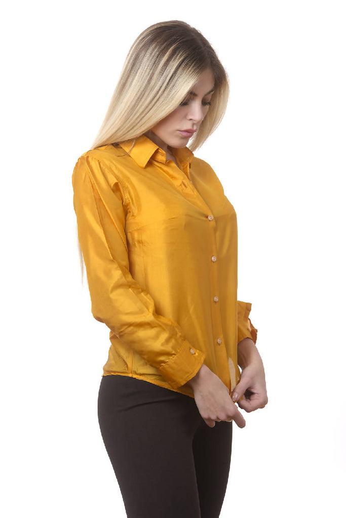 100% One Tone Pure Silk shirt