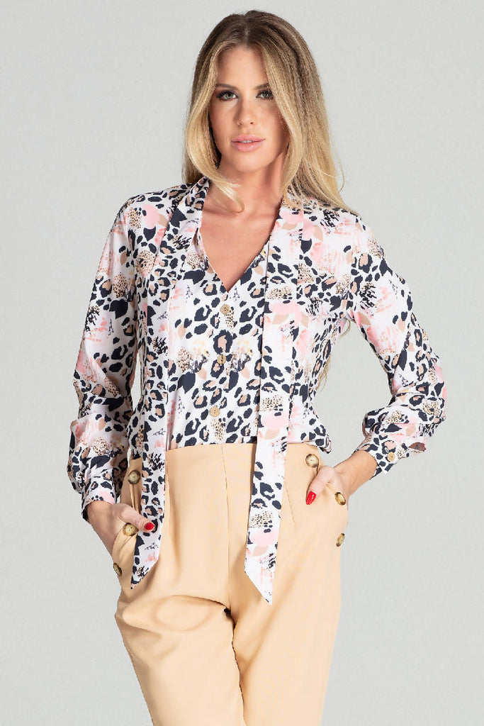 Spring blouse with long sleeves M700