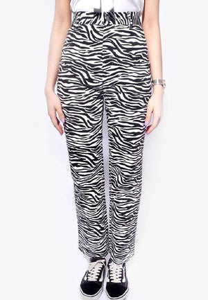 Zebra Pattern Pants