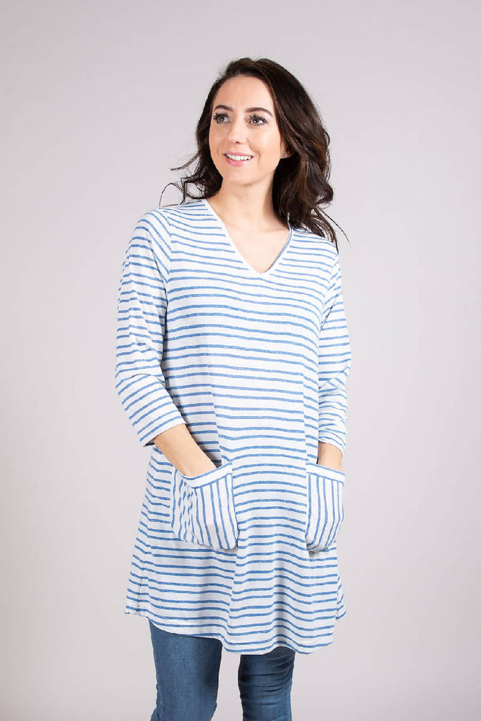 LS 6079 TUNIC CABIN BLUE