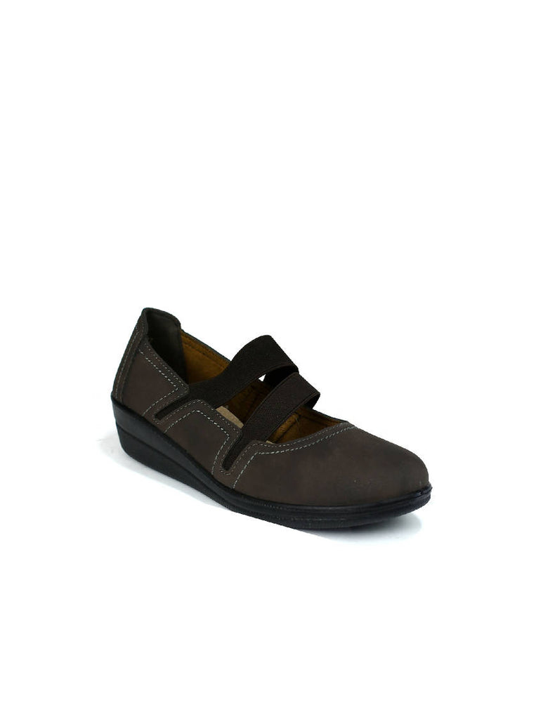 LSH-7934 TLH-9 SLIP ON SHOES - BROWN