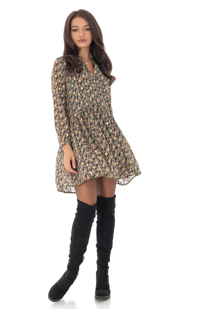 Delicate leaf printed dress, Aimelia - DR3981