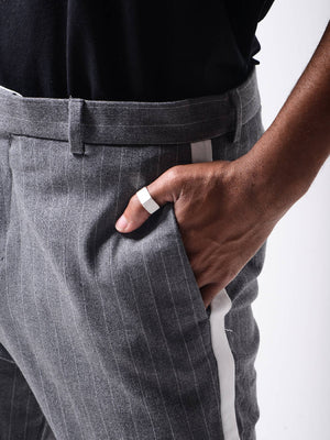 Grey Striped Gentlemen pants