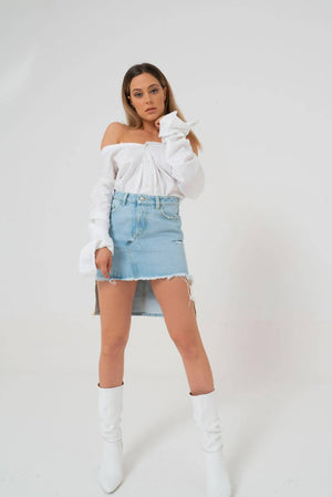 LILY Denim Mini Skirt