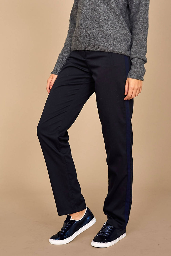 Side Stripe Slim Fit Trousers