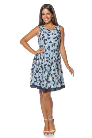 Blue multi-print dress Aimelia