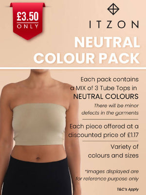 Tube Tops Value Pack - Neutral Colours