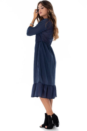 Navy tiered dress Aimelia - DR3567