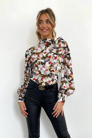 Petra Pussy Bow Neck Blouse