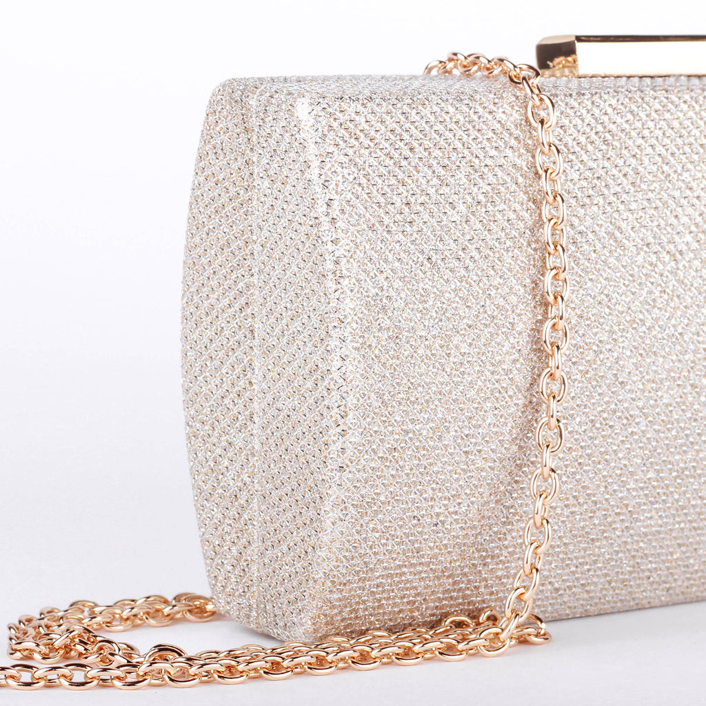 Dionne Champagne Box Clutch Bag