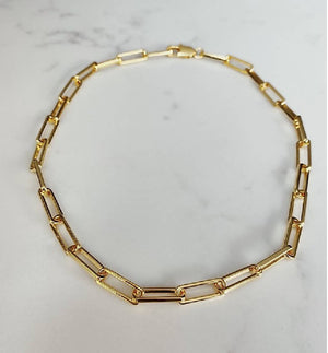 18k gold plated chunky chain necklace
