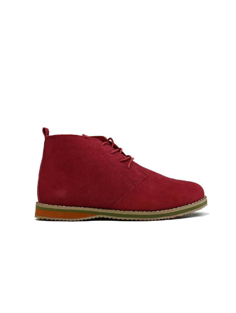 MBO-3737 DESERT BOOTS - RED SUEDE - PACK OF 12 - SIZE 7 TO 12