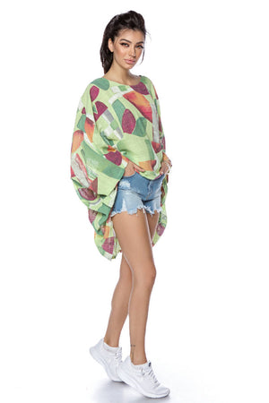 Oversized Linen top - Green - BR2305