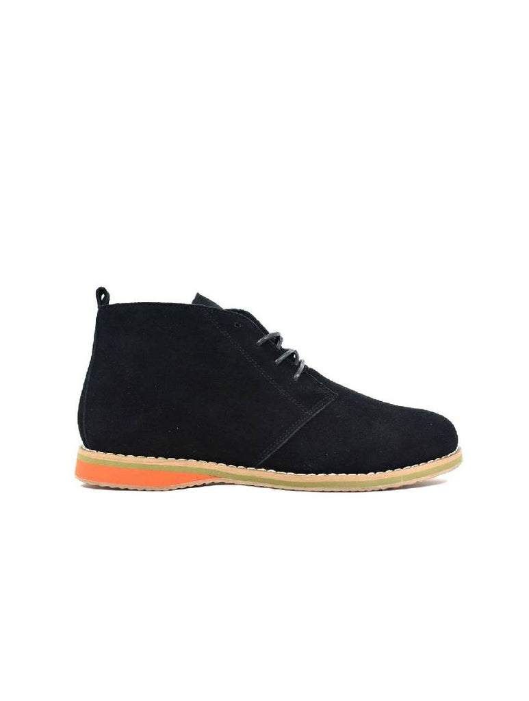 MBO-3737 DESERT BOOTS - BLACK SUEDE - PACK OF 12 - SIZE 8 TO 12