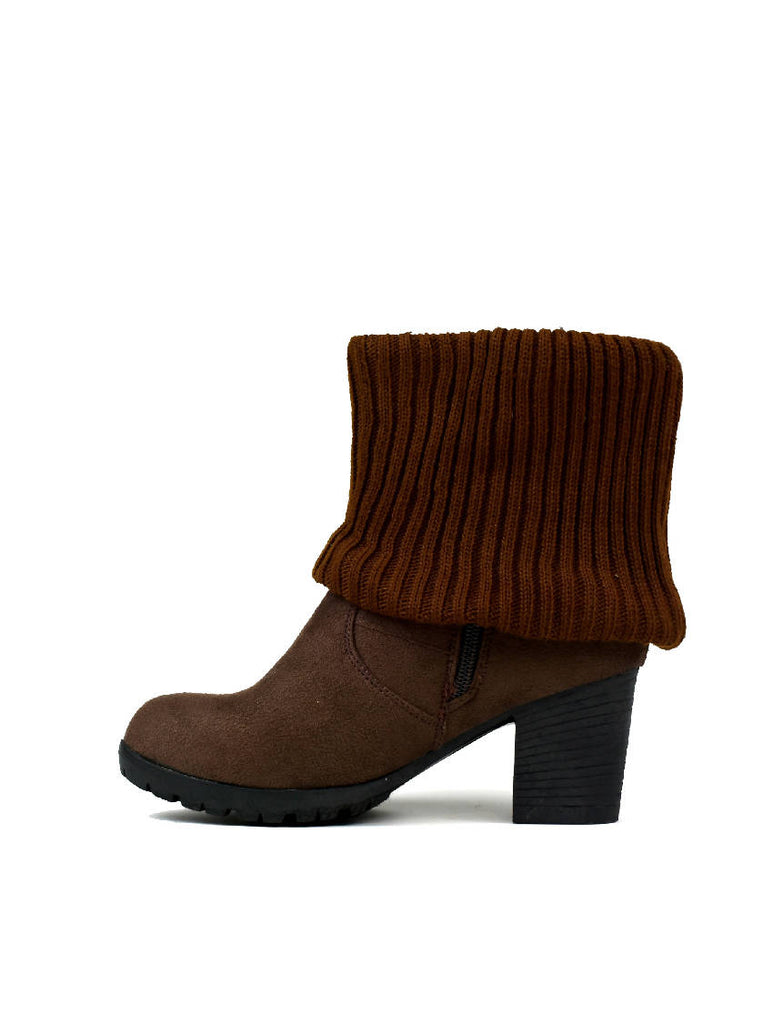 LBO-5670 LADIES CALF ANKLE BOOT - BROWN - PACK OF 18 - SIZE 4 TO 8