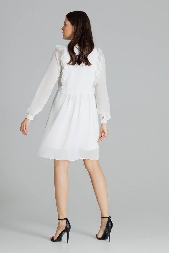 Loose Airy Midi Dress With Long Sleeves