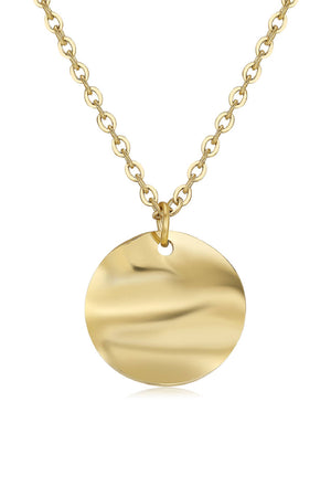 Circle Pendant Necklace in 18k Gold, 18K Rose Gold and Sterling Silver Plating
